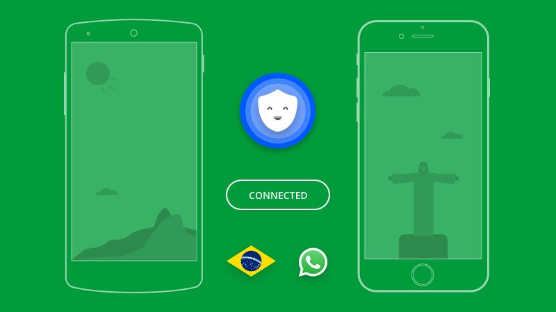Como usar Betternet VPN para desbloquear WhatsApp no Brasil