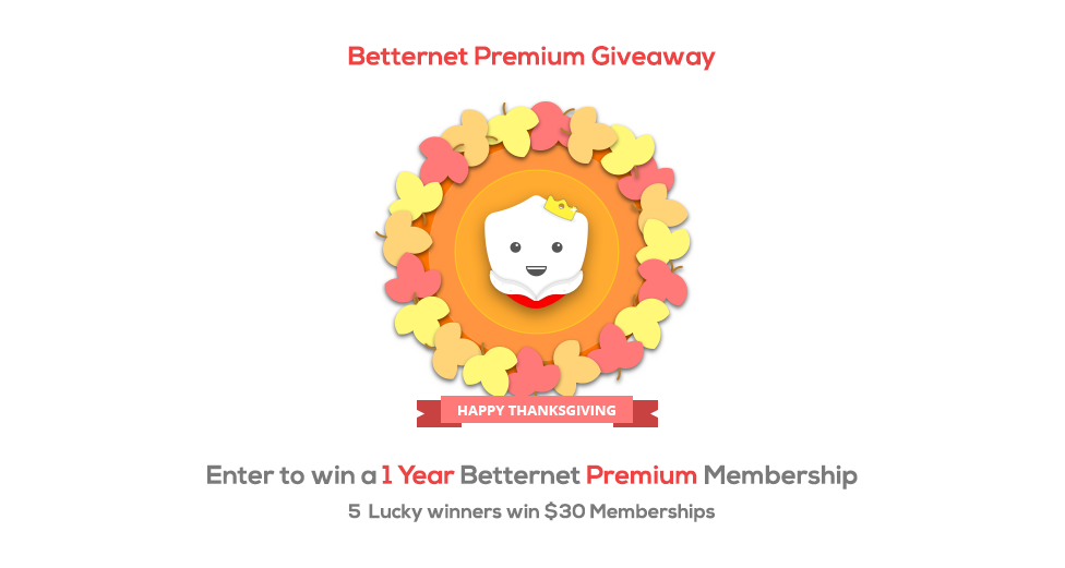 Betternet Premium Giveaway!