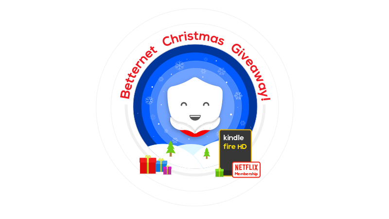Enter Betternet Christmas Giveaway to win a Kindle Fire HD!